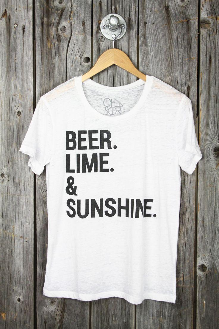 CHASER 'Beer, Lime & Sunshine' Burnout Tee