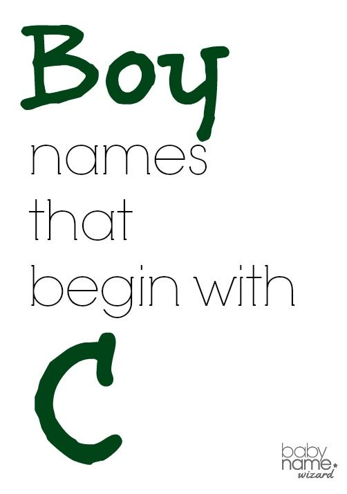 Boy names that begin with C! #babynames