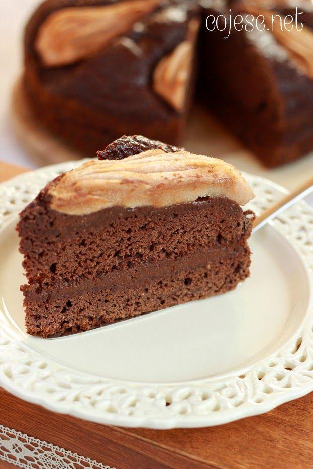 czekoladowe ciasto z gruszkami
