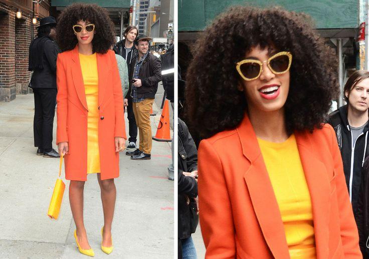 Solange's son | Look du jour : Solange Knowles estivale avec son look color block
