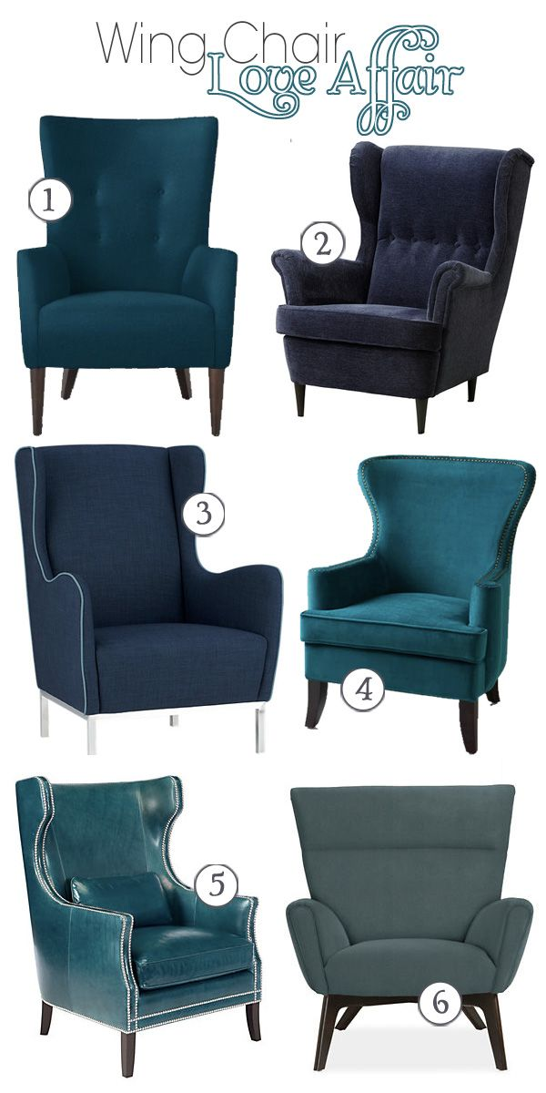 Modern wingback chairs by Teal & Lime