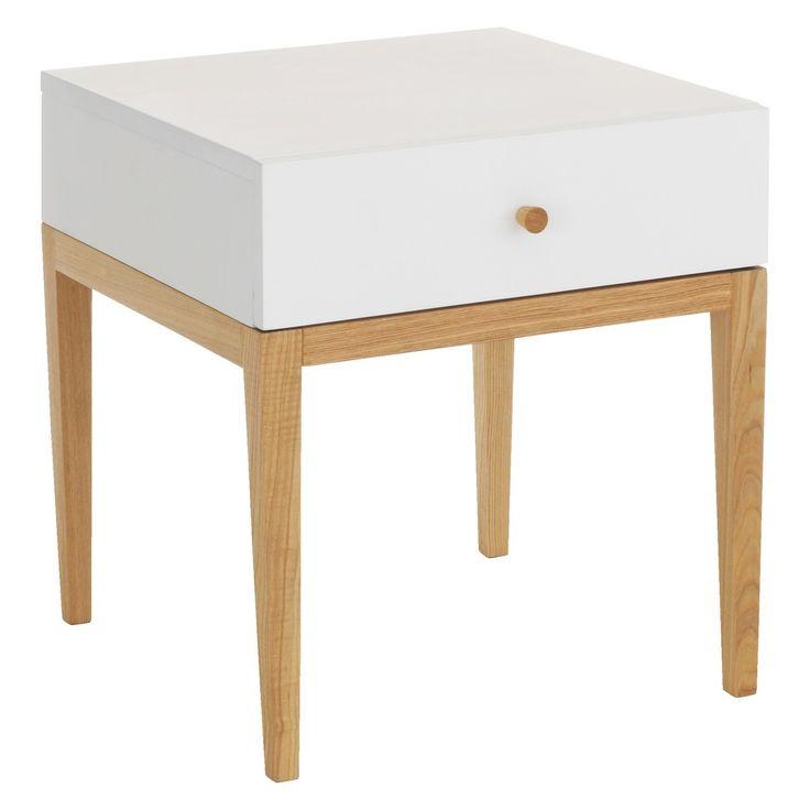 TATSUMA White 1 drawer bedside unit