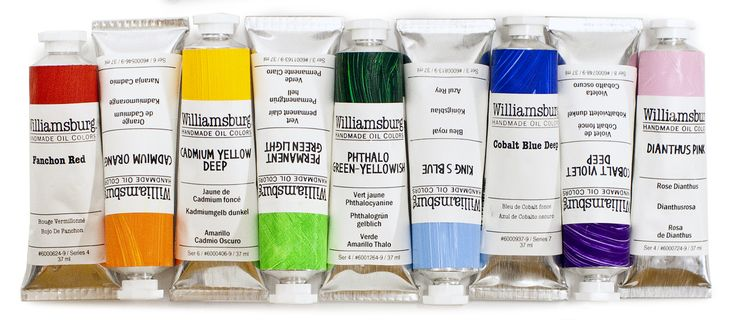 Williamsburg Hand Made Oil Paints. Made in small batches for the ultimate in quality control! #williamsburg #handmade #oilpaint #artsupplies