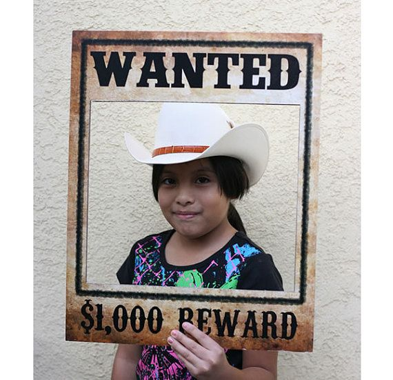 Wanted Poster - Western, Cowboy, Rodeo Birthday Party Theme - Photo Booth - Prop - Decoration - Downloadable - Printable - 16x20 on Etsy, $5.00
