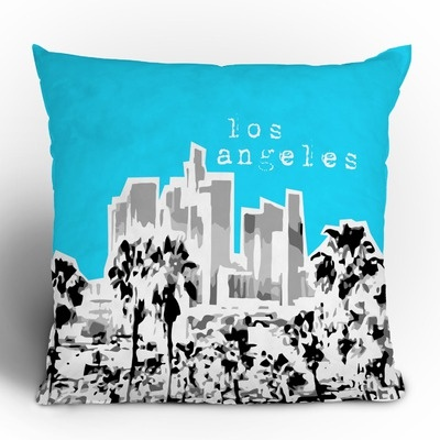 DENY Designs Bird Ave Los Angeles Throw Pillow $40