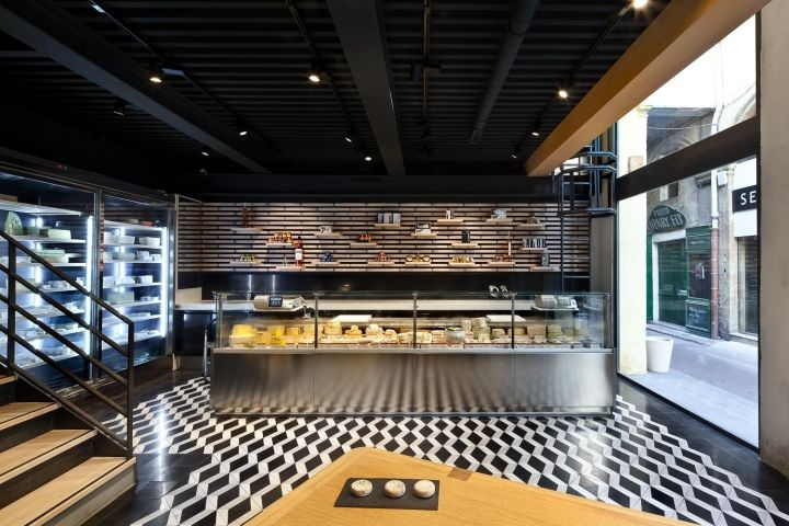 Wine and cheese store by Vincent Coste Architecte, Aix-en-Provence – France