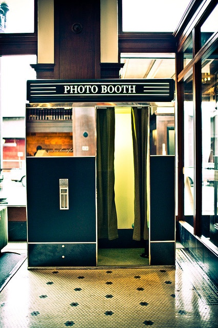 Photo booth, Ace Hotel, Analog, Portland, Oregonian. Was there on cold day in December 2013.