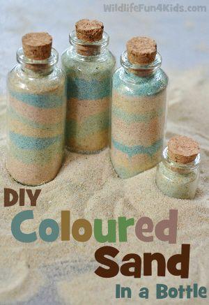 DIY Coloured Sand in a Bottle
