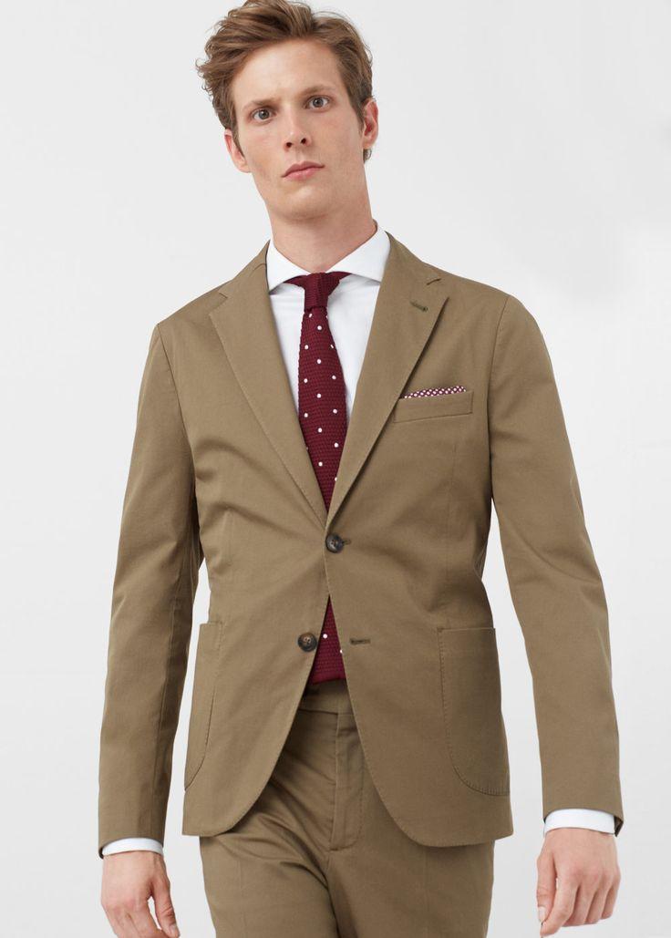 Americana traje slim-fit algodón | MANGO MAN