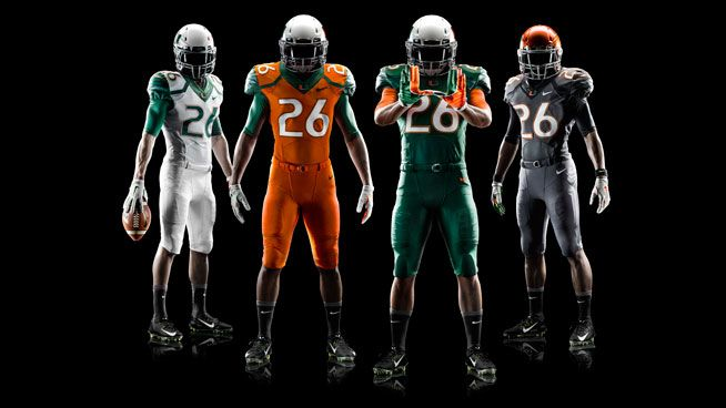 The University of Miami Hurricanes football team received a uniform upgrade early 2014, courtesy of Nike.