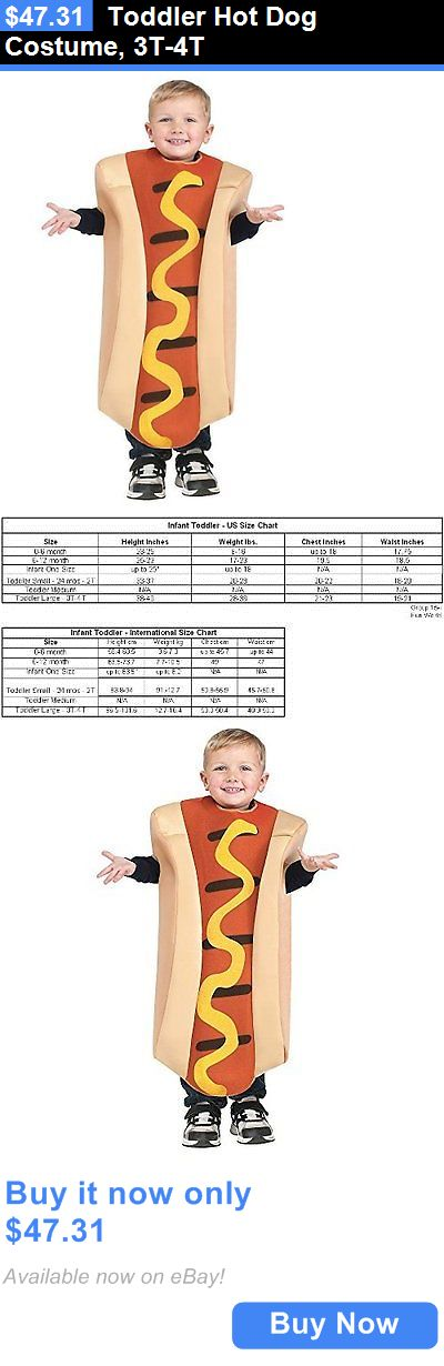 Halloween Costumes Kids: Toddler Hot Dog Costume, 3T-4T BUY IT NOW ONLY: $47.31