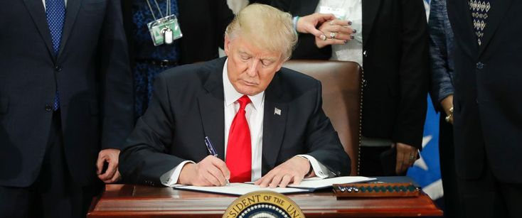 In addition to temporarily suspending immigration from seven Muslim-majority countries, President Donald Trump's Jan. 27 executive order on immigration requires the government to collect information on the number of foreign nationals who have been charged with or convicted of terrorism-related offenses while in the United States.