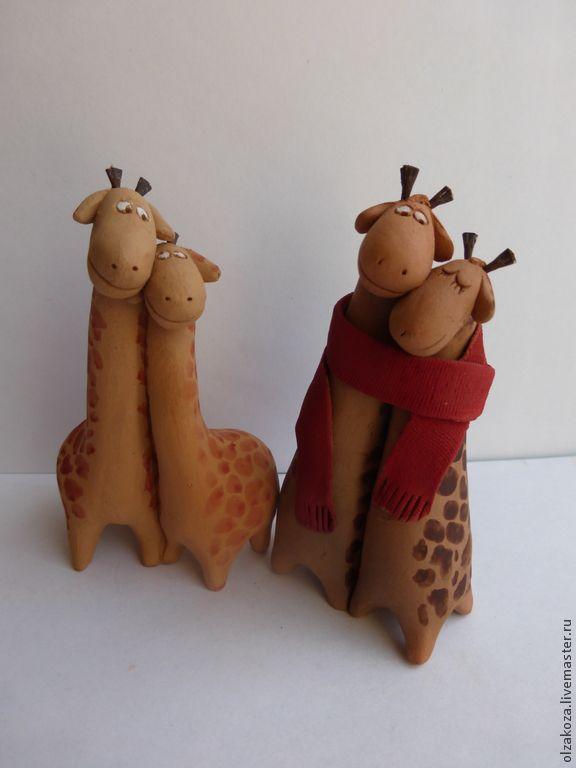 Купить Сладкие парочки. Жирафы - любовь, День Святого Валентина, подарок влюбленным, жираф