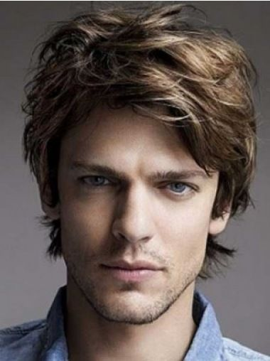 Fabulous Lace Front Wavy Short Men Wigs