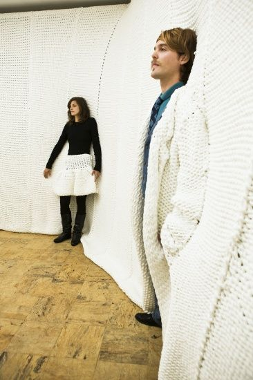 Here's an idea I'll bet no one else has thought of.....knit yourself a wall.