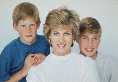 1994 Diana and her boys