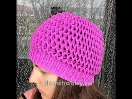 Вязание шапочки крючком узором 3д