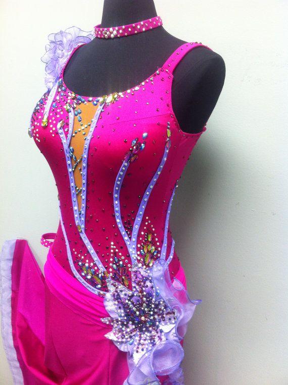 Pink Ballroom Dance Dress от DesignByNatasha на Etsy