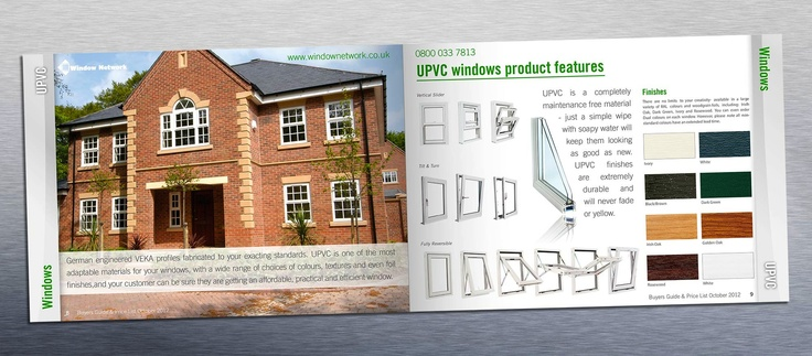 Brochure layout design for Window Network