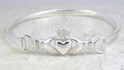 STUNNING STERLING SILVER CELTIC CLADDAUGH CUFF BRACELET  style# br132. A beautiful reminder I found on eBay of the Claddaugh: Hands for Friendship, Heart for Love, and Crown for Loyalty. Blessings and best regards from Kevin and Yolanda, YKP Global Ventures LLC, www.MusicLoveHealing.com