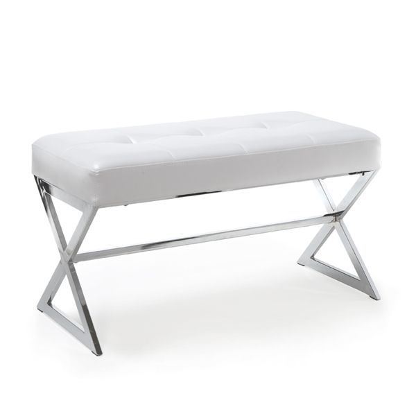 Bouclair Faux Leather Bench ($129)