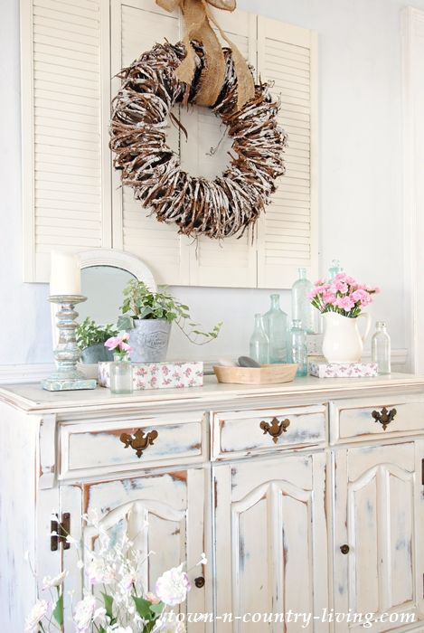 Fresh Create a Spring Vignette with Favorite Things Pictures - Simple country farmhouse decor Contemporary