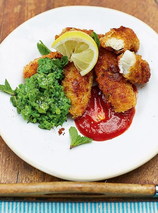 Kerryann's homemade fish fingers & minty smashed peas | Jamie Oliver | Food | Jamie Oliver (UK)