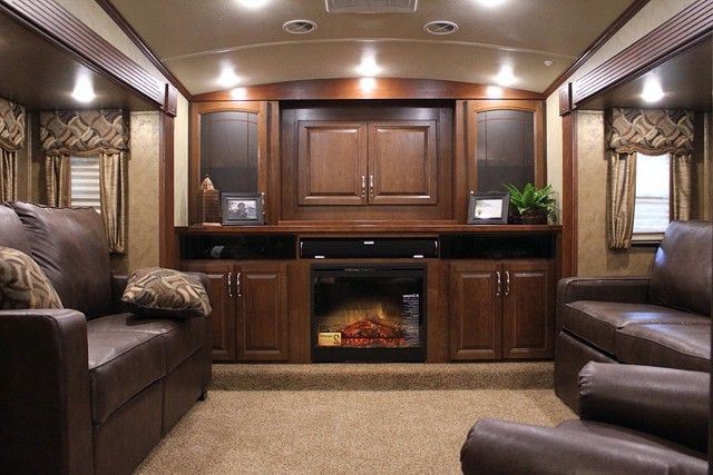Front Living Room Fifth Wheel Toy Hauler Oh My Husband Would LOVE This RV