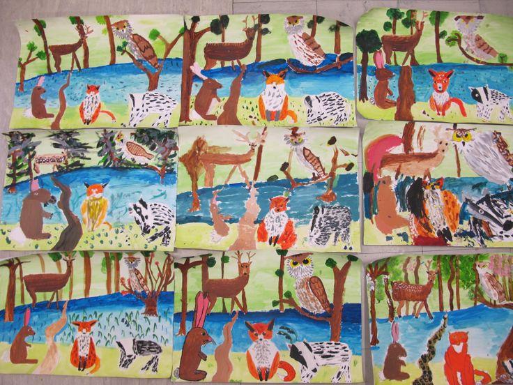 19 best Kids Art Classes John Constable style woodland animals