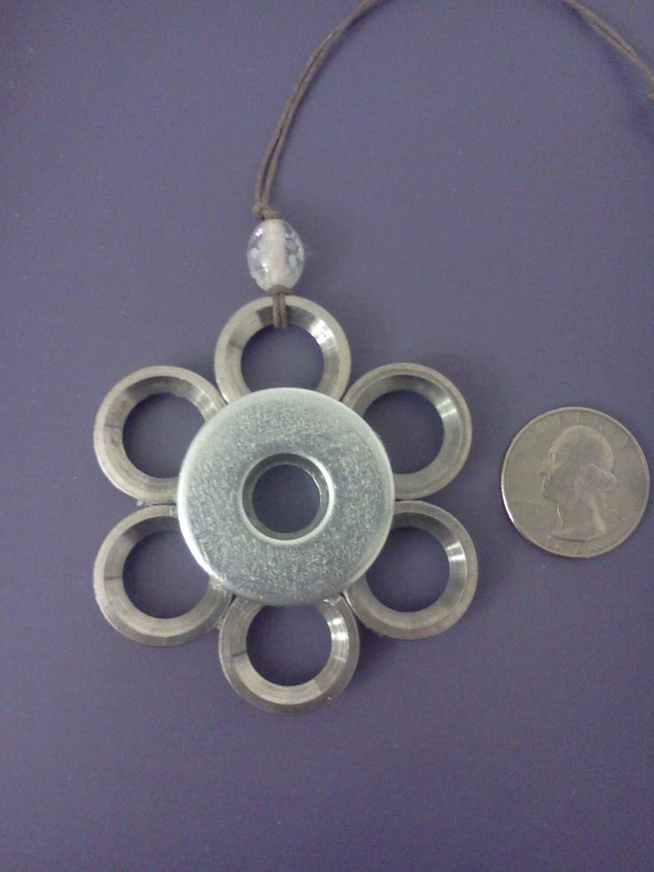 Silver Snowflake Washer Ornament. $10.00, via Etsy.