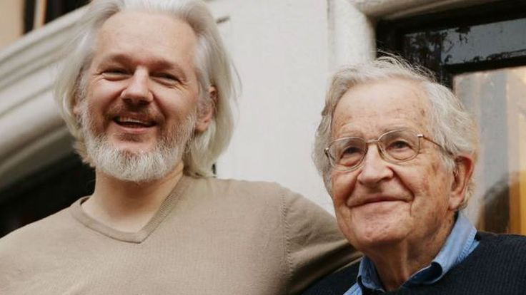 """Chomsky: CIA Targeting of Julian Assange of WikiLeaks is """"Disgraceful Act""""Our President Trump spoke very well about WikiLeaks.  Today our US Government want Julian Assange arrested. What Happened? Our own Government is fighting against our Constitutional Rights.  Especially our 4th Amendment Rights to Privacy. Our Government should not be able to watch us in our bathrooms with their Kill, Steal, Rape and Destroy Pedophilia Invisible Suits.  US Soldier Invisibility Suit Revealed…"""