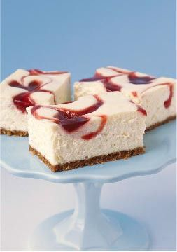 PHILADELPHIA New York-Style Strawberry Swirl Cheesecake – It's all here: creamy cheesecake, strawberry jam and a crunchy graham cracker crust—plus a super-easy technique for achieving the swirl.