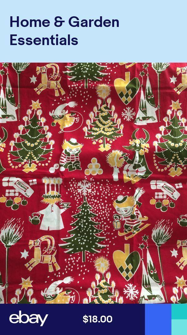 Moomin fabric piece Christmas Red 100cm x 70cm bab…