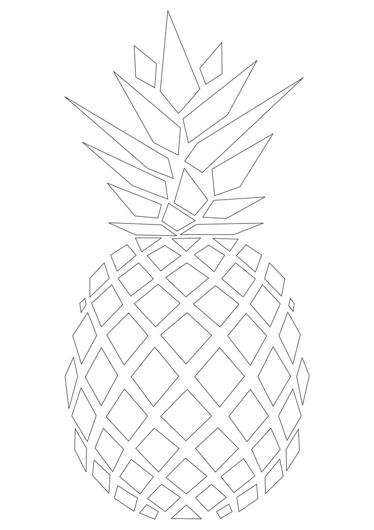 This is a picture of Soft Pineapple Stencil Printable