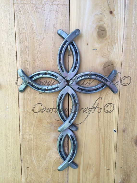 Hey, I found this really awesome Etsy listing at https://www.etsy.com/listing/188715303/hand-crafted-horseshoe-cross-jesusfish