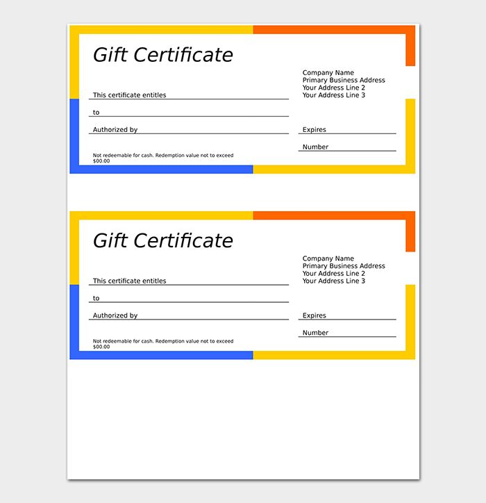 35 best Gift ideas images on Pinterest Birthday certificate, Free - copy hotel gift certificate template