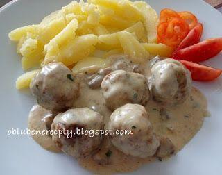 Obľúbené recepty: Mäsové guľky so šampiňónovou omáčkou ...
