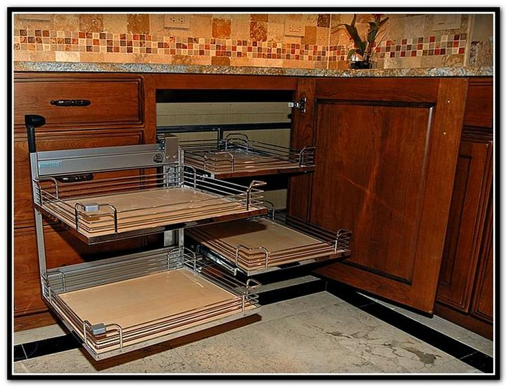 Kitchen Cabinet Blind Corner Pull Out Shelves  Pull Out