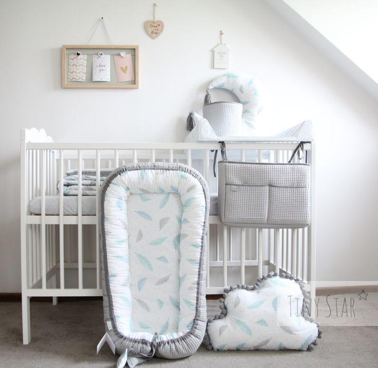 Plumes by Tiny Star :) Babybed in plumes! #babycocoon #babyroom #babynest #nurserydecor #nursery