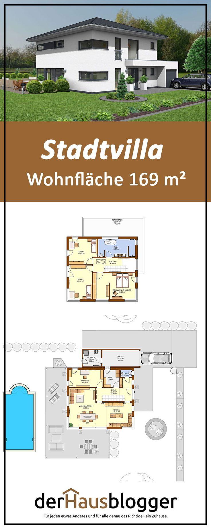 Stadtvilla 169m² – Grundrisse
