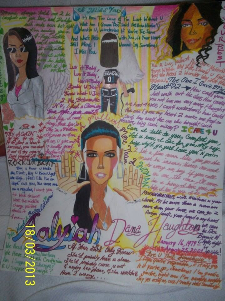 Aaliyah lyric poster for sale on ArtWanted.com