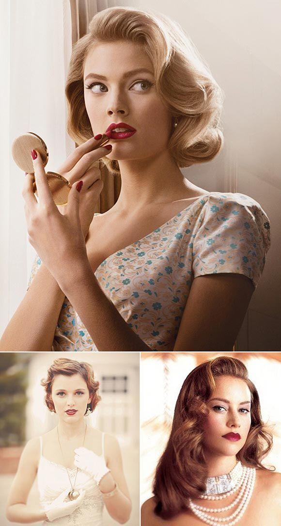 Peinados y maquillajes para novias vintage
