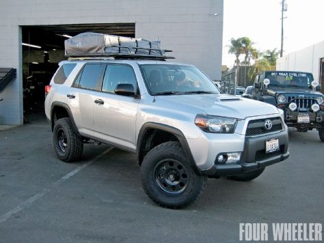 5th gen toyota 4runner trail edition with arb touring style roof rack and series III rooftop tent