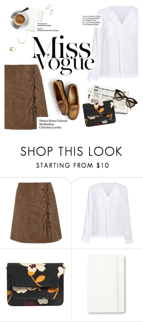 """""""miss vogue"""" by lux-life ❤ liked on Polyvore featuring Haute Hippie, Marni, Isson, Moleskine and Chloé"""