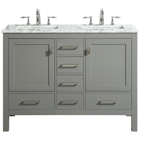 Wrought Studio Furlow 48 Double Bathroom Vanity Set Grey