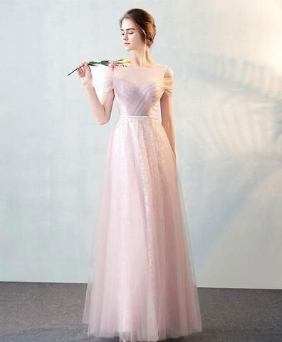 ebf639257dc0 Gray gradient tulle long prom dress, gray evening dress   Gowns ...
