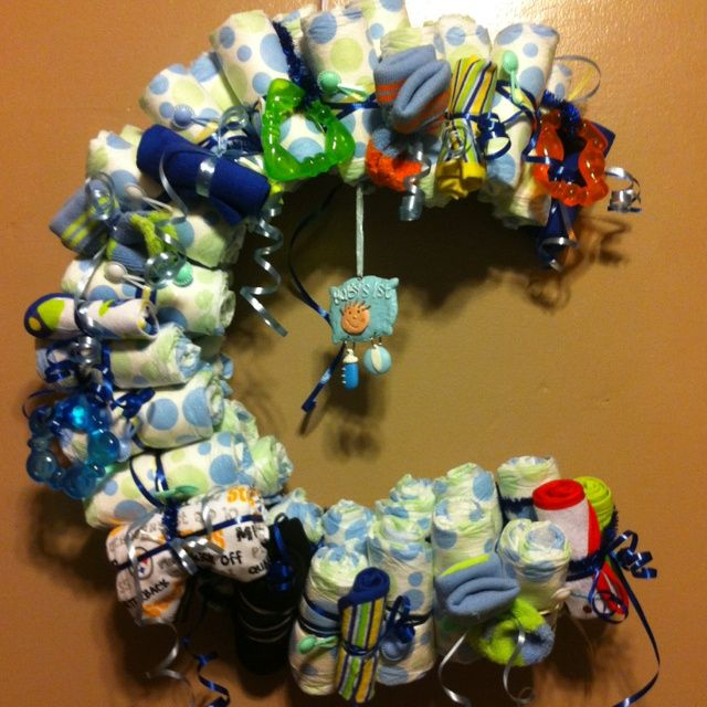 Baby Shower Wreath Instructions: 17 Best Images About Baby Shower Decor On Pinterest
