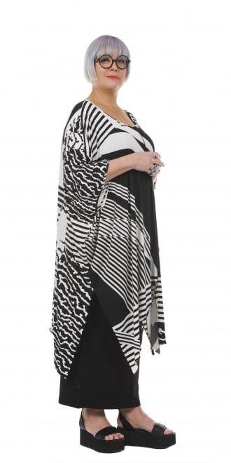 Yiannis Karitsiotis Oversized Black and White Print Tunic