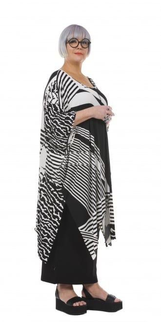 Yiannis Karitsiotis Oversized Black and White Print Tunic