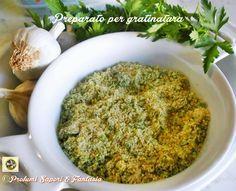 Preparato per gratinatura, indispensabile per farcire e aromatizzare le verdure che si vogliono cuocere in gratin in forno. Facile e comodo da conservare,